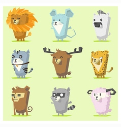Cute Animals Icon Set 3 vector image vector image