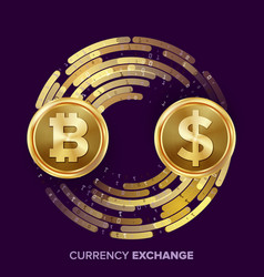 digital currency money exchange bitcoin vector image vector image