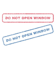 Do not open window textile stamps vector