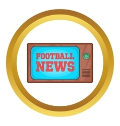 Football news on retro tv icon vector
