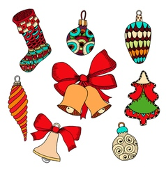 for the New Year holiday vector image