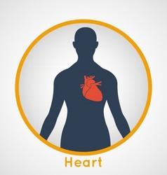 Heart poster vector