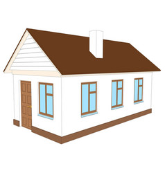 house with chimney vector image vector image
