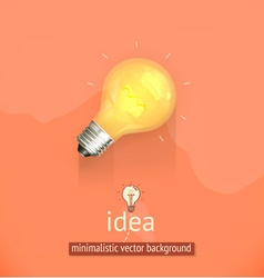 Idea minimalistic background vector image vector image
