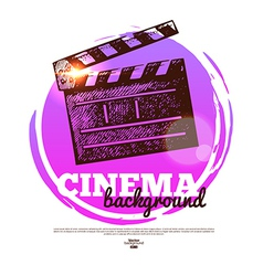 Movie cinema banner with hand drawn sketch vector image vector image