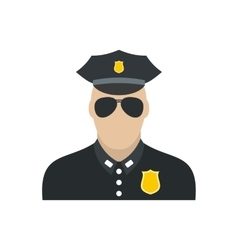 Policeman flat icon vector image
