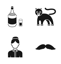 Profession alcohol and or web icon in black style vector