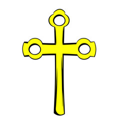 religious symbol of crucifix icon icon cartoon vector image