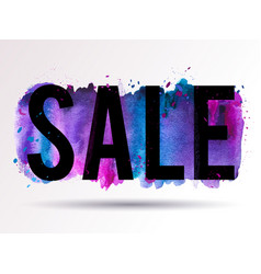 sale-splash-blue-violet-pink vector image