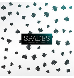 Spades background of playing cards vector