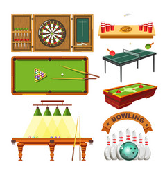 Sport game darts billiards pool tennis or vector