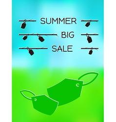 summer big sale vector image vector image