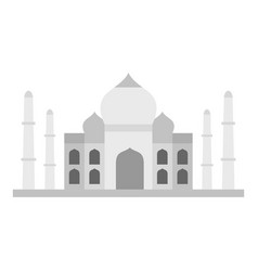 taj mahal icon isolated vector image