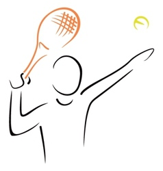 Tennis serve vector image