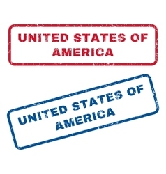 United states of america rubber stamps vector