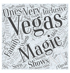Vegas magic for the family word cloud concept vector