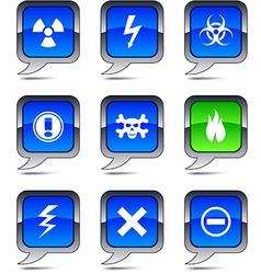 Warning balloon icons vector