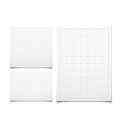 White isolated square grid set with shadow vector image