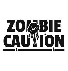 Zombie horror logo simple black style vector