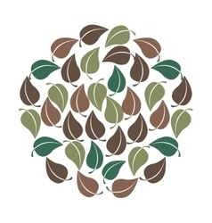 Leafs floral pattern nature icon vector