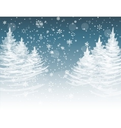 Christmas new year the stylized image of spruce vector