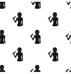 Singerprofessions single icon in black style vector