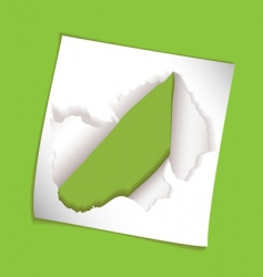 Paper element rip hole vector