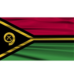 Flag of vanuatu with old texture vector