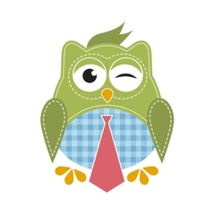 Owl with tie vector