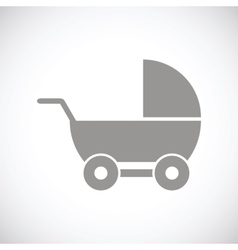 Baby carriage black icon vector
