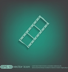 Film sign symbol of cinema celluloid vector