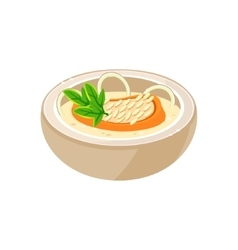 Onion soup in a bowl vector