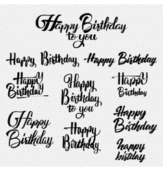 Happy Birthday calligraphy art Background vector image