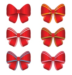 Bow set red vector