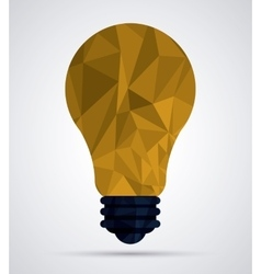 Low poly light bulb design vector