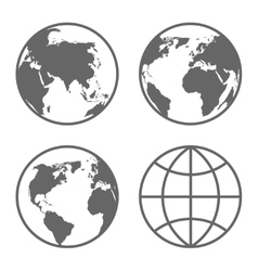 Globe Icons Set vector image