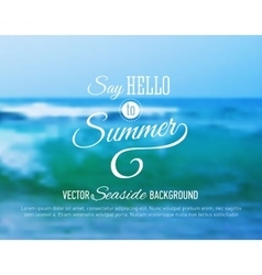 Summer background with sea sunset vector