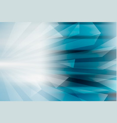 Abstract geometric blue background design vector