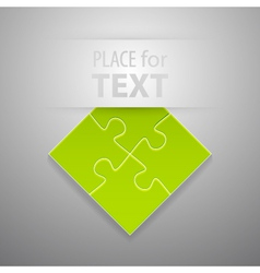 Attach puzzle-sticker vector image