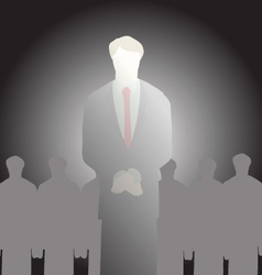 Businessman standing art vector