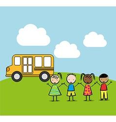 children drawing design vector image