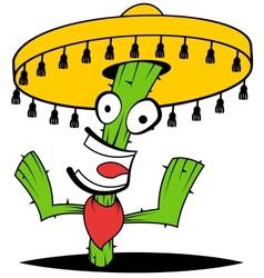 Crazy Cactus vector image vector image