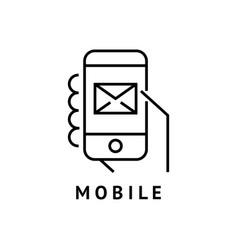 Digital black hand mobile vector