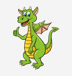 dragon cartoon character vector image vector image