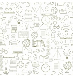 Education seamless background - vector image vector image