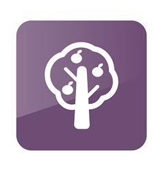 Fruit tree icon farm vector