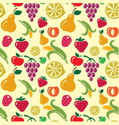 Fruits seamless pattern vector