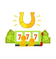 Gambling conceptual in flat design vector