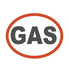 Gas oil station emblem vector image