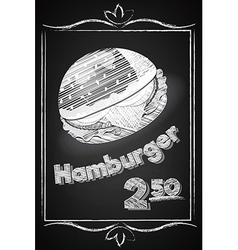 Hamburger Poster on the Chalkboard vector image vector image